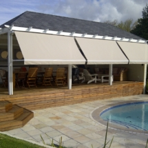 Fall Arm Awning in Cassette to give this deck the west setting sun protection it needed. Installed Constantia