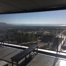 Drop blind screen using Soltis 86 fabric. installation in Noordhoek