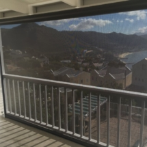 Sunworker charcoal Fabric with a 8% openness for better us protection but still retaining your view of the mountains from Simonstown
